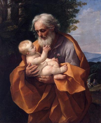 """G. Reni, """"San Giuseppe e il bambino Gesù"""" (1635)"""