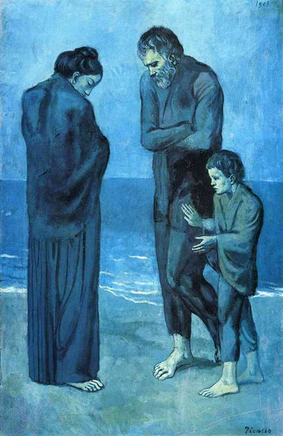 """Pablo Picasso, """"Poveri in riva al mare"""" (1903)"""