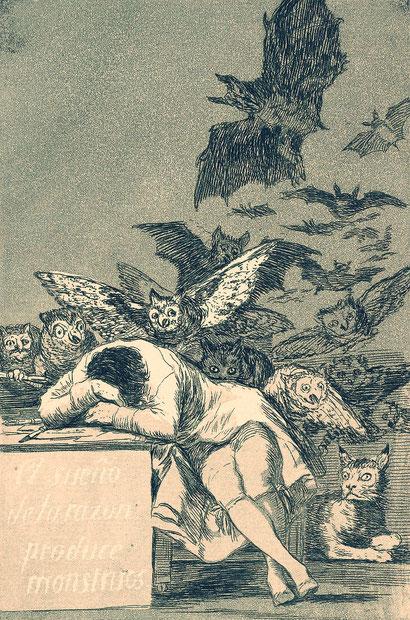 """Francisco Goya, """"Il sonno della ragione genera mostri"""""""