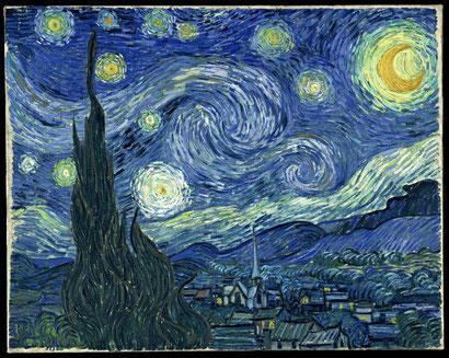 "V. van Gogh, ""Notte stellata"" (1889)"