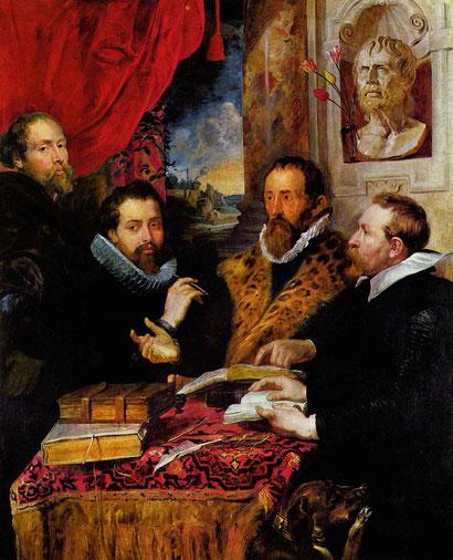 """P. P. Rubens, """"Quattro filosofi"""" (1611-1612)"""