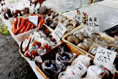 ほのぼの茶屋で販売している特産品の数々