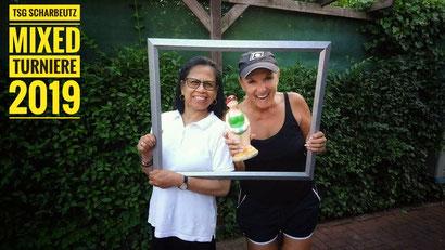 Die letzten Tagessiegerinnen : Nancy Mentz und Manuela Steffens
