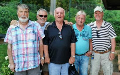 von links : G. Fleischer * H. Wildfang * J. Hennings * H. Schulze * A. Prüß