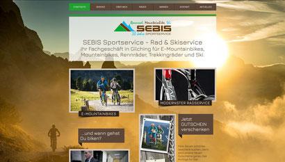 Webseite SEBIS Sportservice Gilching