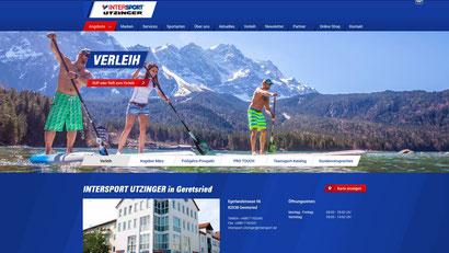 Webseite Intersport Utzinger