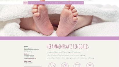 Webseite Hebammenpraxis Lenggries