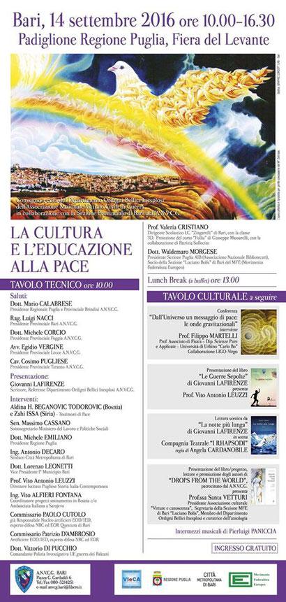 La Cultura e l'Educazione alla Pace Manifesto