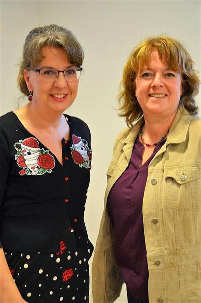 Referentin Astrid Reinhold mit Kerstin Wohlers (LFV)