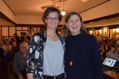 Vorsitzende Andrea Beckdorf mit Heike Götz