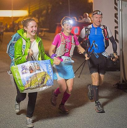 Sur l'Echappée Belle 2016, avec ma fille et mon mari (144km en relais)