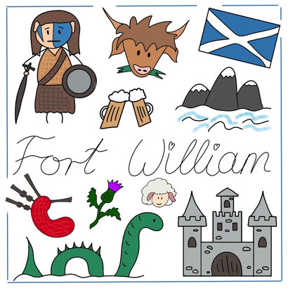 Mein Sketchnotes Reise ABC - F wie Fort William
