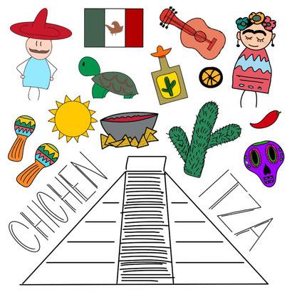 Mein Sketchnotes Reise ABC - C wie Chichen Itza