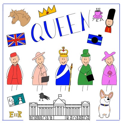 Mein Sketchnotes ABC - Q wie Queen