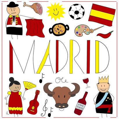 Mein Sketchnotes Reise ABC - M wie Madrid
