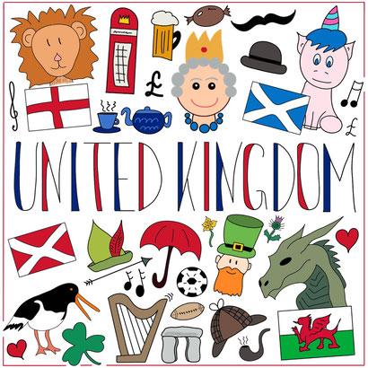 Mein Sketchnotes ABC - U wie United Kingdom