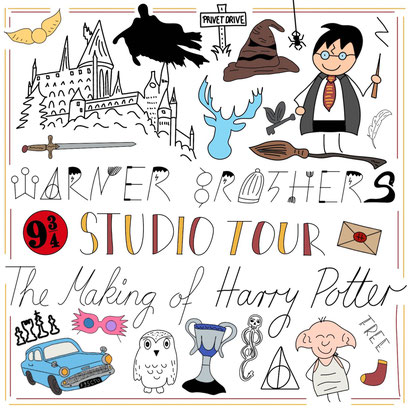 Mein Sketchnotes ABC - W wie Warner Brothers Studio Tour - Harry Potter