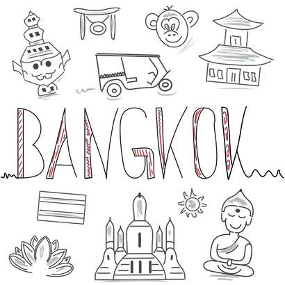 Mein Sketchnotes Reise ABC - B wie Bangkok