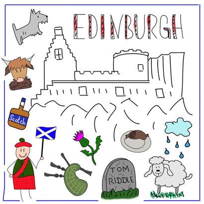 Mein Sketchnotes Reise ABC - E wie Edinburgh