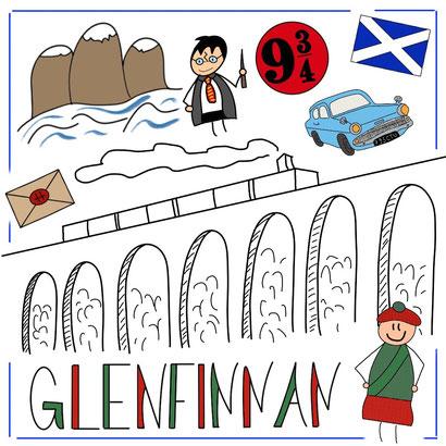 Mein Sketchnotes Reise ABC - G wie Glenfinnan