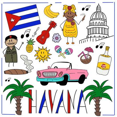 Mein Sketchnotes Reise ABC - H wie Havanna