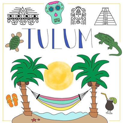 Mein Sketchnotes ABC - T wie Tulum