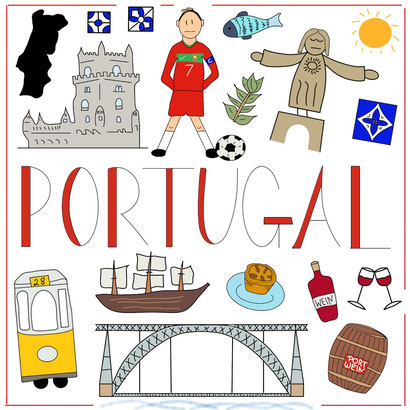 Mein Sketchnotes ABC - P wie Portugal