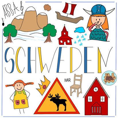 Mein Sketchnotes ABC - S wie Schweden