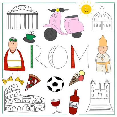 Mein Sketchnotes ABC - R wie Rom