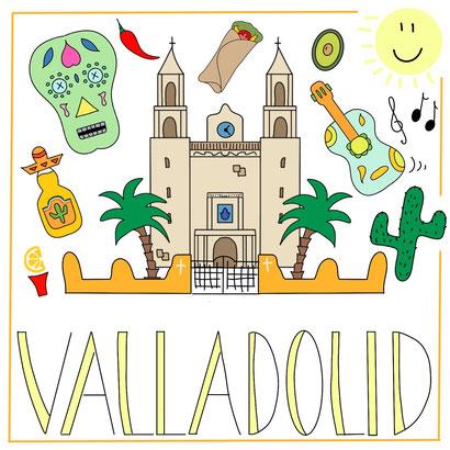 Mein Sketchnotes ABC - V wie Valladolid in Yucatan