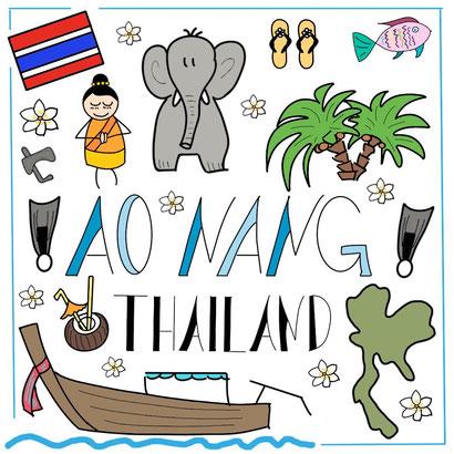 Mein Sketchnotes Reise ABC - A wie Ao Nang