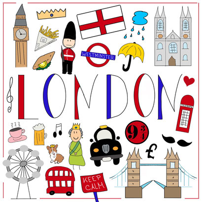 Mein Sketchnotes Reise ABC - L wie London