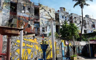 Reiseroute Kuba Mexiko Rundreise und baden - Callejon de Hamel Havanna