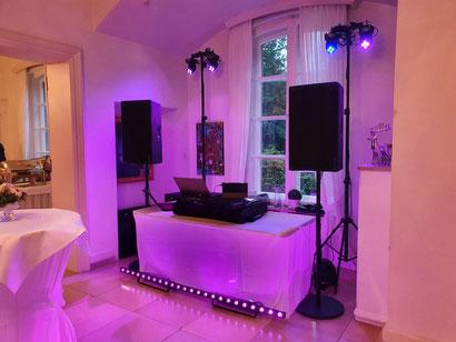 Technik Geburtstag DJ, Ambiente Licht DJ