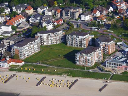 Traumferienwohnungen im Strandpalais liegen direkt am Strand