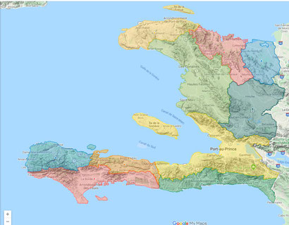 Interactive atlas of the spread of Covid-19 in Haiti
