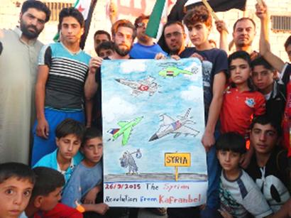 Beboere i byen Kafranbel