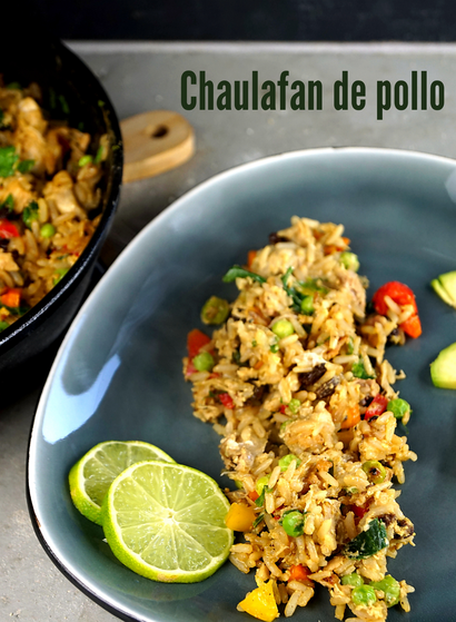 Chaulafan de pollo, gebratener Reis nach einem Rezept aus Ecuador