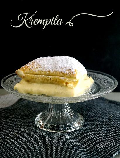 Krempita, Cremeschnitte mit Vanillecreme und Blätterteig nach einem serbischen Rezept