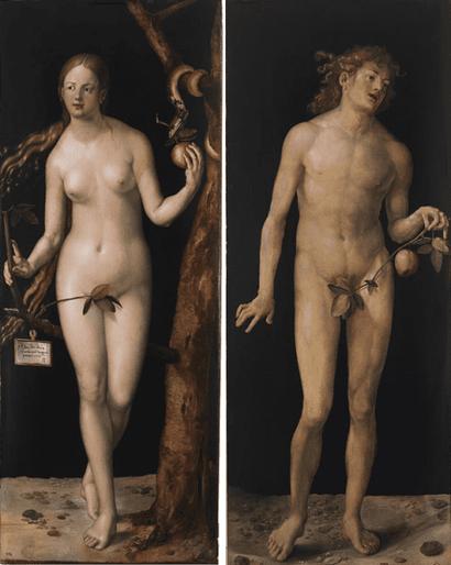 Адам и Ева - Альбрехт Дюрер