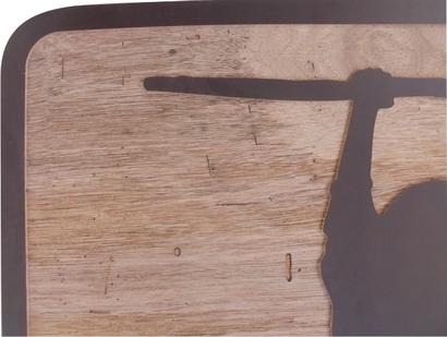 Holzschnitt, Scherenschnitt aus Holz, Konturfräsen