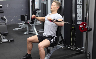 chest exercise seated cable press