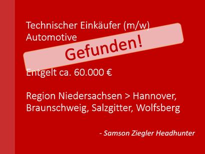 Einkäufer, Einkauf, Procurement, Purchase, Buyer - Technischer Einkäufer (m/w) Entgelt - 60.000 €; Region > Kassel gefunden