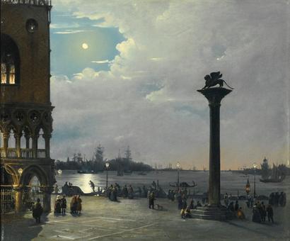 "Ippolito Caffi, ""Notturno a Venezia"""