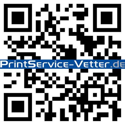 Druckerei, QR-Code, PrintService-Vetter