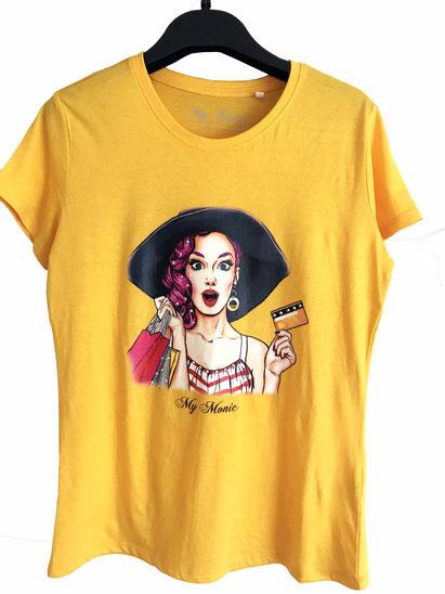 #My Monic #ropa swarovski #merchandising #luxury ##logos empresa #logos camisetas #logos gratis #camisetas con cristales de swarovski #swarovski #cristales #eventos #congresos #ropa de fiesta  #camisetas con estampados #camiseta amarilla mujer