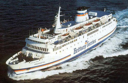 Tregastel at sea in her Brittany Ferries livery.