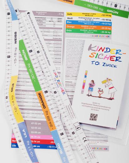 Kindersicher Pediatape-Lineal und Infoflip-Büchlein
