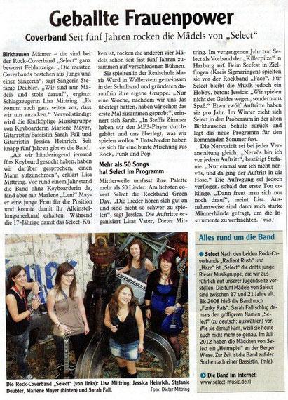 (Rieser Nachrichten, 05.04.2012)