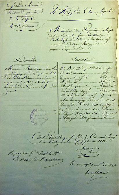 mémoire de proposition, document SHDT XC 181